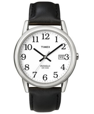 Timex Watch, Men's Black Leather Strap 35MM T2H281UM