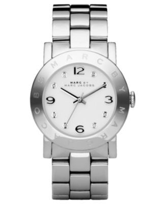 Marc by Marc Jacobs Watch, Women's Amy Stainless Steel Bracelet MBM3054