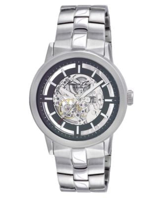 Kenneth Cole Watch, Men's Automatic Skeleton Stainless Steel Bracelet KC3925