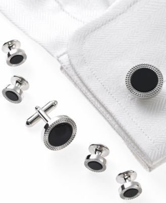 Geoffrey Beene Cufflinks, Circle Tuxedo Boxed Set