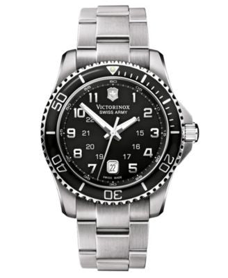 Victorinox Swiss Army Watch, Men's Maverick GS Stainless Steel Bracelet 241436