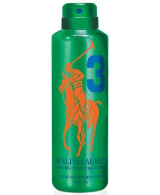 Ralph Lauren Polo Big Pony Number #3 All Over Body Spray, 6.7 oz