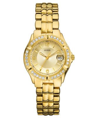 GUESS Watch, Women's Gold-Tone Mixed Metal Bracelet 36mm U85110L1