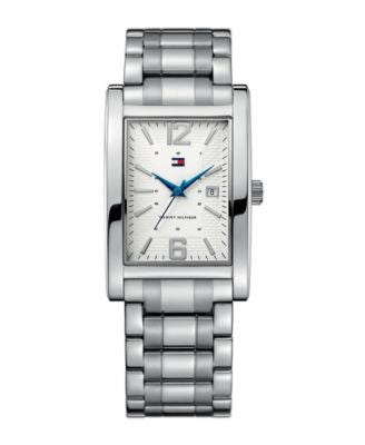 Tommy Hilfiger Watch, Men's Essential Silver-Tone Mixed Metal Bracelet 1710267