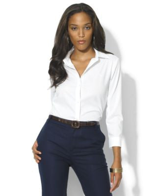 Lauren Ralph Lauren Three-Quarter-Sleeve Shirt