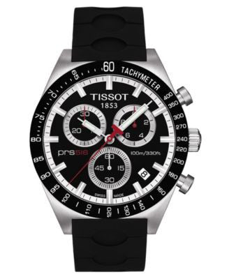 Tissot Watch, Men's Swiss Chronograph PRS 516 Black Rubber Strap T0444172705100