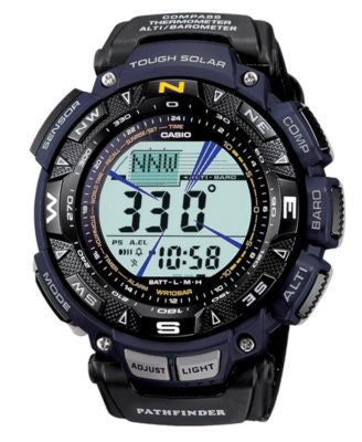 Casio Men's Digital Pathfinder Black Cloth Strap Watch PAG240B-2