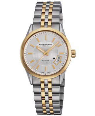 RAYMOND WEIL Watch, Men's Automatic Freelancer Two Tone Stainless Steel Bracelet 2770-STP-65021