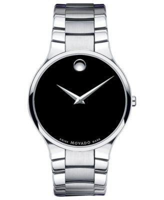 Movado Men's Swiss Serio Stainless Steel Bracelet Watch 38mm 0606382