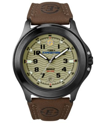 Timex Watch, Men's Expedition Metal Field Brown Leather Strap 40mm T47012UM