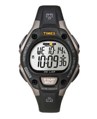 Timex Watch, Women's Digital Ironman 30 Lap Black Resin Strap 34mm T5E961UM