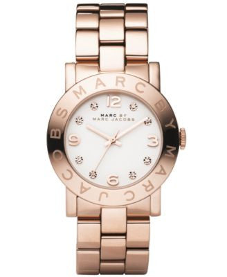 Marc by Marc Jacobs Watch, Women's Amy Rose Gold Ion Plated Stainless Steel Bracelet MBM3077
