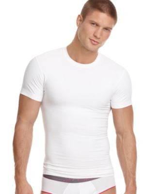 2(x)ist Men's Undewear, Body Shaper SHAPE FORM Slimming Tagless Crew Neck T Shirt