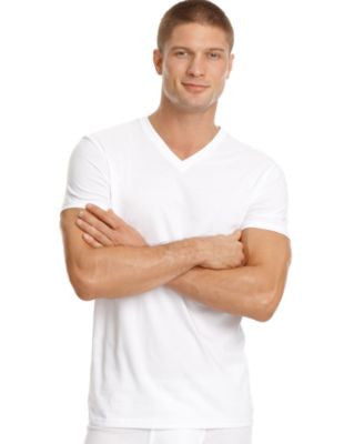Calvin Klein Men's Big and Tall Classic V-Neck T-Shirt 2 Pack NU8581