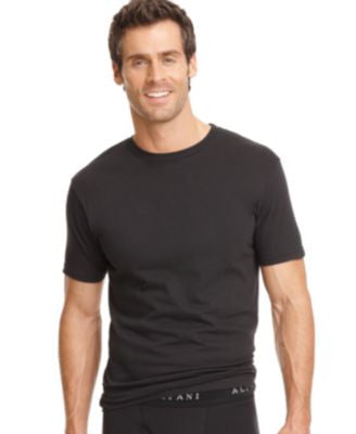 Alfani Men's Underwear, Big & Tall Tagless Crew Neck T Shirt 2 Pack