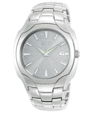 Citizen Men's Eco-Drive Stainless Steel Bracelet Watch 36mm BM6010-55A