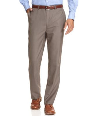 Calvin Klein BODY Slim-Fit Sharkskin Dress Pants