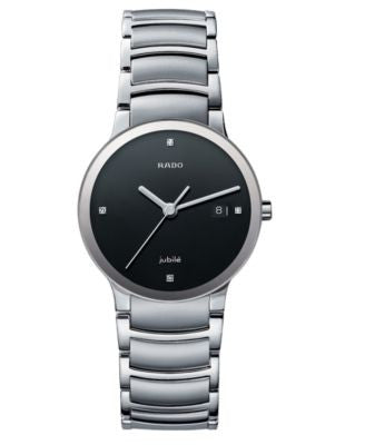Rado Watch, Men's Centrix Jubile Diamond Dial (1/10 ct. t.w.) Stainless Steel Bracelet R30927713