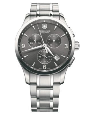 Victorinox Swiss Army Watch, Men's Chronograph Alliance Stainless Steel Bracelet 241478