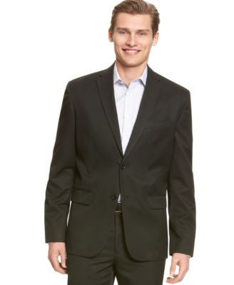 Calvin Klein Men's Solid 2 Button Blazer