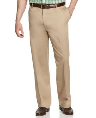 IZOD Big and Tall Wrinkle Free Legacy Chino Flat Front Pants