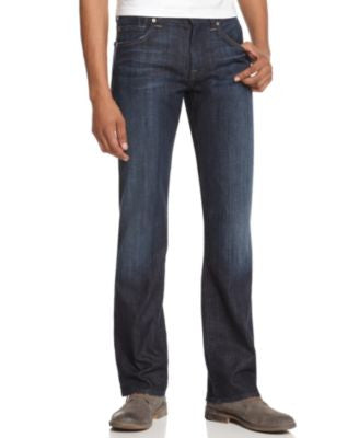 7 For All Mankind Men's Austyn Relaxed Straight Fit Jeans, Los Angeles Dark
