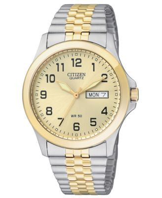 Citizen Men's Two Tone Stainless Steel Bracelet Watch 38mm BF0574-92P