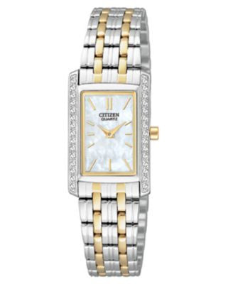 Citizen Women's Two Tone Stainless Steel Bracelet Watch 19mm EK1124-54D