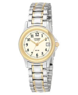 Citizen Women's Two Tone Stainless Steel Bracelet Watch 24mm EU1974-57A