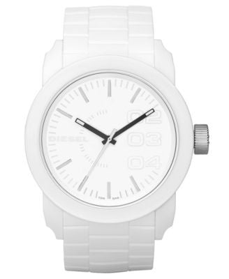 Diesel Watch, White Silicone Strap 44mm DZ1436