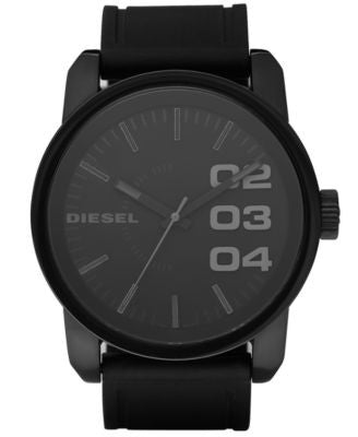 Diesel Watch, Black Silicone Strap 46mm DZ1446