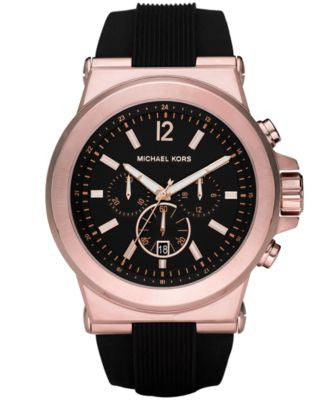 Michael Kors Men's Chronograph Dylan Black Silicone Strap Watch 48mm MK8184