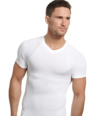 One Flat Jack Men's Underwear, Body Shaper Seamless V Neck T Shirt