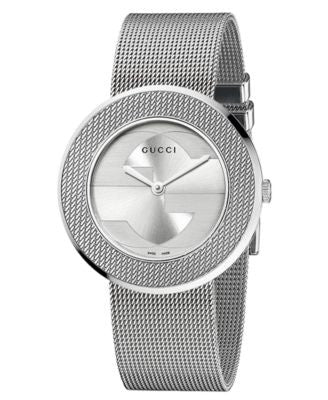 Gucci Watch, Women's Swiss U-Play Stainless Steel Mesh Strap 35mm YA129407