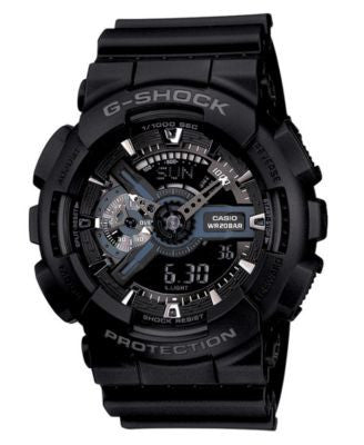 G-Shock Men's Analog Digital Black Resin Strap Watch GA110-1B