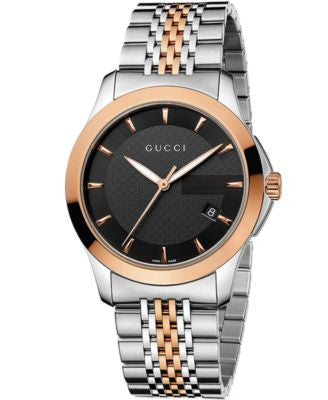 Gucci Watch, Unisex Swiss G-Timeless Rose Gold-Tone and Stainless Steel Bracelet 38mm YA126410
