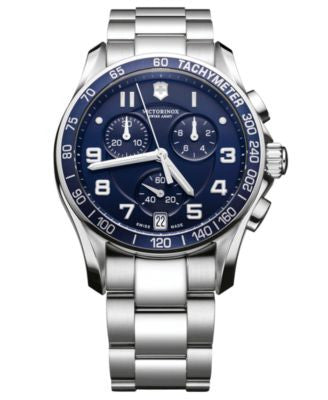 Victorinox Swiss Army Watch, Men's Chronograph Stainless Steel Bracelet 241497