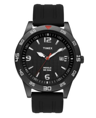 Timex Watch, Men's Black Resin Strap 42MM T2N694UM