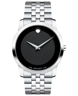 Movado Unisex Swiss Museum Stainless Steel Bracelet Watch 40mm 0606504