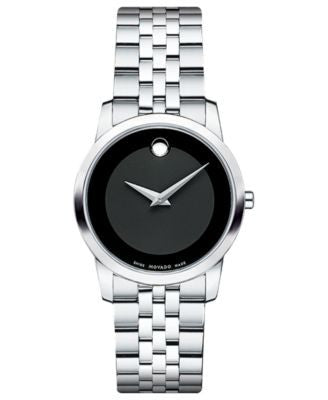 Movado Women's Swiss Museum Stainless Steel Bracelet Watch 28mm 0606505