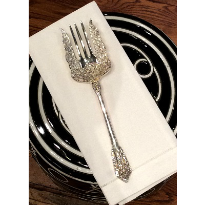 SILVER PLATE SERVING FORK