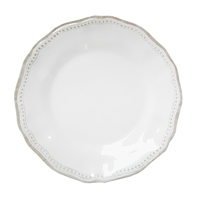 PROVENCE WHITE MELAMINE DINNER PLATE // REGISTERED FOR 8