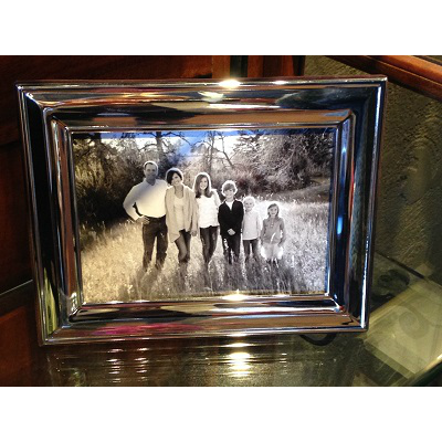 SILVER PLATE 5X7 FRAME