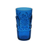 FLEUR BLUE POLYCARB ICED TEA GLASS