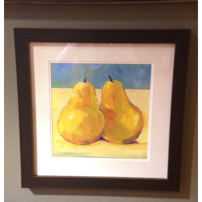 PAIR OF PEARS FRAMED ART