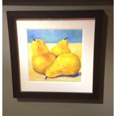 TRES PEARS FRAMED ART