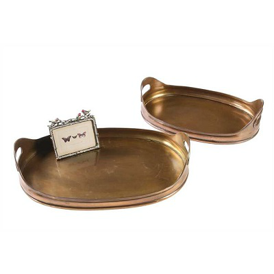 COPPER TRAY WITH HANDLES // SM & LG