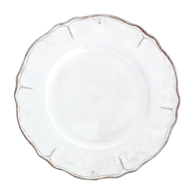 RUSTICA WHITE MELAMINE DINNER PLATE // REGISTERED FOR 8