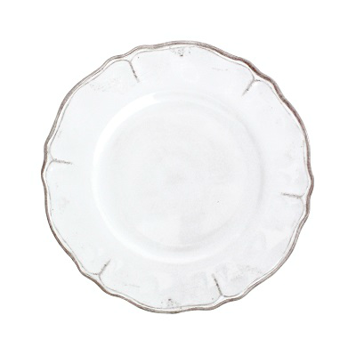 RUSTICA WHITE MELAMINE SALAD PLATE // REGISTERED FOR 4
