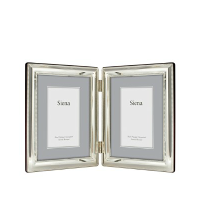DOUBLE VERTICAL DOUBLE BORDER BEADED 5X7 FRAME